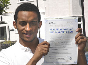 Nathaniel Wallace passes his driving test in West Wickham