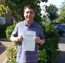 Phillip Enright passes his driving test in Portsmouth