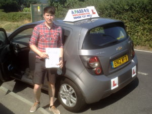 Raymond ODonnell passes his driving test in Brentwood