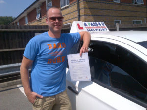 Tim Scorer passes his driving test in Chelmsford