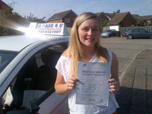 Kelly Russo passed her driving test in Basildon