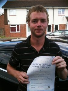 Leigh Kirk passes his driving test in Portsmouth