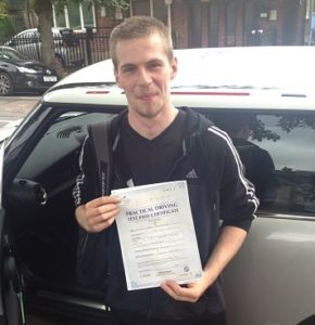 Michael Kellegher passes his driving test 1st time