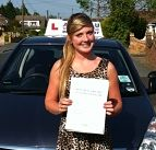 Shannon Mackie passes herdriving test in Clacton