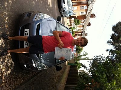 Thomas Clover passes his driving test 1st time in Colchester