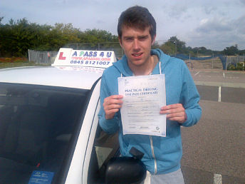 Chris Annison passes his driving test in Basildon
