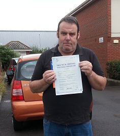 Colin Smith passed his driving test in Portsmouth