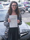 Hester McLean passes her driving test in Lowestoft