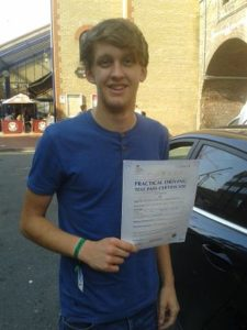 James Shaddock passed his driving test in Clacton