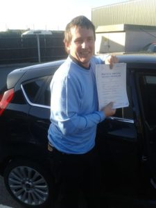Kes Harrington passed his driving test in Southend