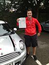 Mitchell Howard passes his driving test in Bishops Stortford
