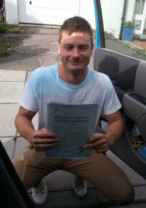 Paul Drinkwater passes his driving test in Portsmouth