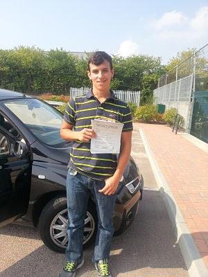 Thomas Putt passes his driving test in Basildon