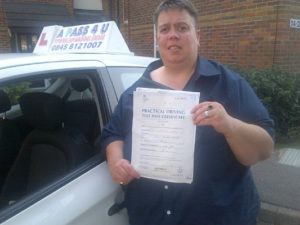 Vicky Treadwell passes her driving test in Basildon