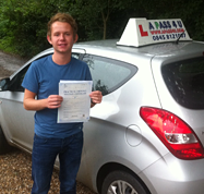 Peter Wilkinson passes his driving test in Basildon
