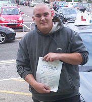 Barry Knowles passes his driving test in Lowestoft