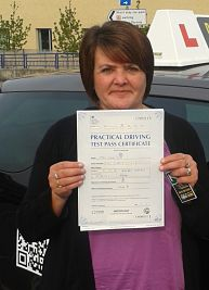 Clare Smith passes her driving test in Oxford