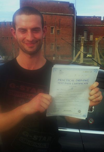 Daniel LLoyd passes his driving test in Portsmouth