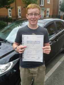 George Flemming passes his driving test in Chelmsford
