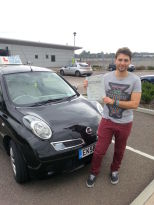 Gerry King passes his driving test in Basildon