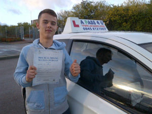 James Holland passes his driving test in Basildon