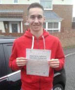 Jay Watkinson passes his driving test in Tilbury