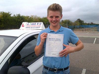 Max Davis passes his driving test in Basildon