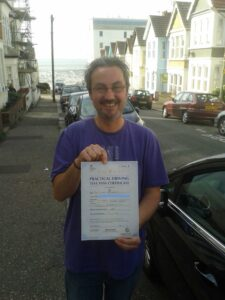Paul Blackburn passes his driving test in Brentwood