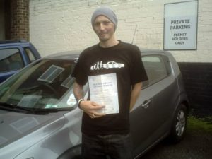 Simon Pownall passes his driving test in Clacton on sea
