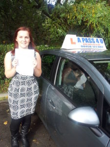 Tamara Jones passes her driving test in Southampton