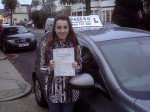 Yasmine Smith passes her driving test in Basildon