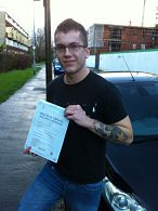 Aron Skipp passes his driving test in Portsmouth