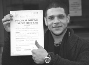 Christian Gonzalas passes his driving test after an intensive driving course