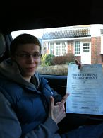 Dominic Brindle passes his driving test in Brentwood