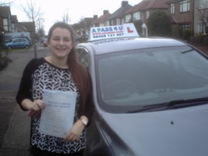 Emily Sandspasses her driving test in Southend on sea