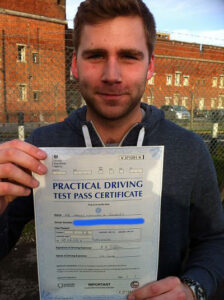James Gurney passes his driving test in Portsmouth