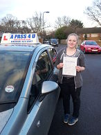 Jessica Turton passes her driving test in Southampton