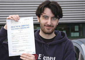 Joshua Bygrave passes his driving test in West Wickham