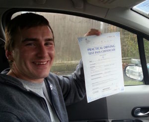 Paul Freer passes his driving test in Portsmouth