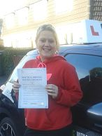 Sophie Lester passed her driving test in Oxford