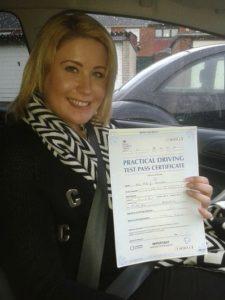 Abbi Streeter passes her driving test in Basildon
