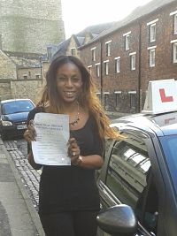 Chantelle McNicholls passes her driving test in Oxford