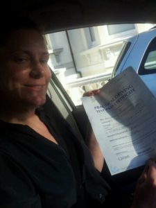 Isobella Perrin passes her driving test in Worthing