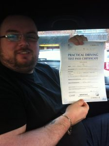 Lee Grimes pass his driving crash course in Brentwood