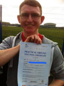 Barry Hooper passes his driving test centre in Portsmouth