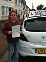 Ollie Conroy passes his driving test in Southend