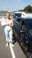Holly Askew passes her driving test in Gillingham