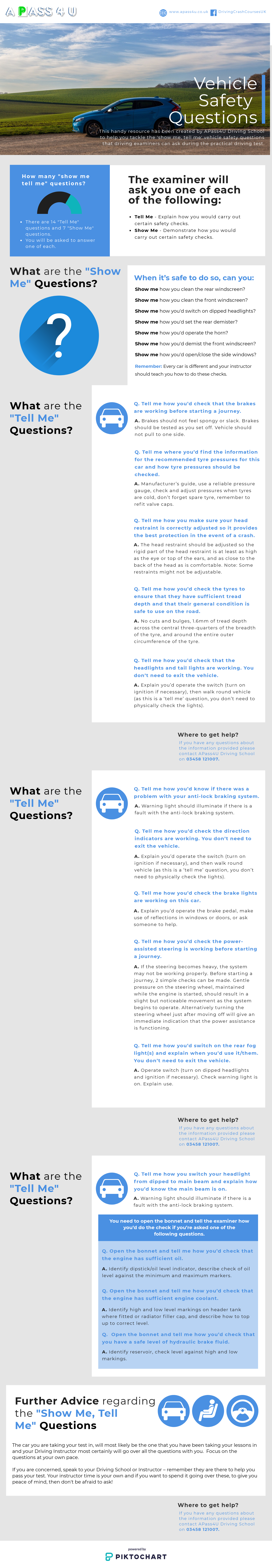 Show Me Tell Me Infographic